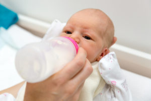 bottle feeding baby
