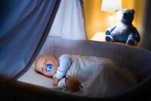baby sleeping in the crib