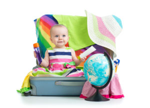 baby packing for holidays